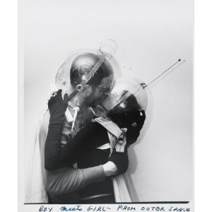 Boy meets girl from outer space. ca.1960